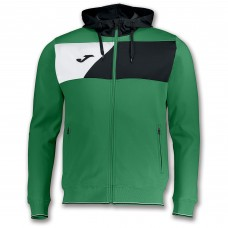 CREW II HOODED FZ POLY JACKET (GREEN-BLACK-WHITE)